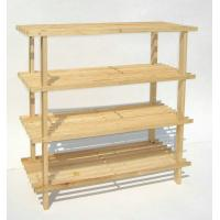 Buy cheap OEM 4 Layer Dark Espresso Wooden Shoe Display Rack For Bathroom from wholesalers