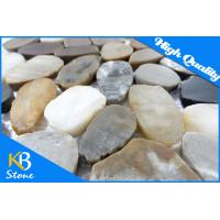 Buy cheap Mix Color Pebble Stone Marble Tile Polished Stone Mosaic Tile for Wall Decoration or Flooring from wholesalers