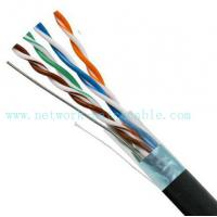 Buy cheap Black 4P Exterior Grade UTP Outdoor Cat5e Cable 100MHz Fire Resistant from wholesalers