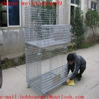 Buy cheap European market storage  cage/pallet cage/security cage/metal bin/metal storage building/steel storage containers from wholesalers