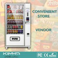 Buy cheap Outdoor Popcorn Soft Drinks Combo Vending Machine By Coin And Bill Operated from wholesalers