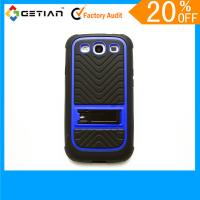 Buy cheap Red Protective Knuckle Cute Case For Samsung Galaxy S3, Kickstand Phone Back Case With Stand from wholesalers