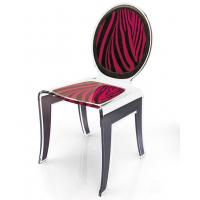 Buy cheap Clear Acrylic Baroque Chair With Artwork , Modern Acrylic Furniture from wholesalers