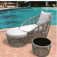Buy cheap rattan sun lounger with coffee table RMS-0054 from wholesalers