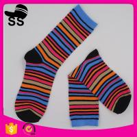 Buy cheap Yiwu Wholesale Summer Fashion Striped Tube Custom Catton White Hosiery Women Pretty Girls Women Ankle Happy Socks from wholesalers