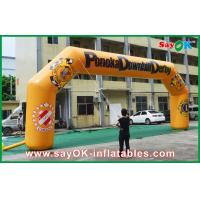 Buy cheap Blower Waterproof Inflatable Arch 0.6mm PVC 11mLx4.5mH For Advertising from wholesalers