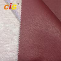 Buy cheap Luxury Sofa Pvc Leather Material Knitting Backing , Faux Leather Upholstery Fabric product