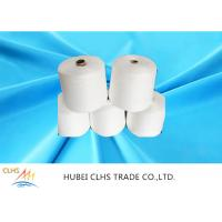 Buy cheap Raw White / Dyed Poly Spun Yarn , 100 Spun Polyester Yarn For Sewing Thread from wholesalers