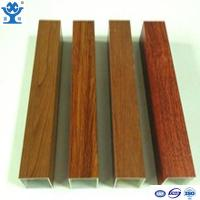 Buy cheap Competitive price wood finish extruded aluminum hollow tube aluminum square tube from wholesalers