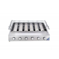 Buy cheap Factory Price Smokeless Barbecue  6 pcs burner Gas CStainless Steel BBQ Grill Ceramic Infrared Burner from wholesalers