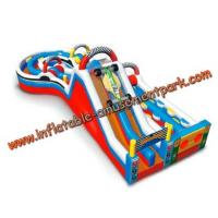 Buy cheap Colorful Round Combo Obstacle Course Bounce House For Rental from wholesalers