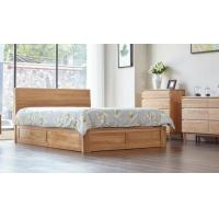 China Family Tall King Size Wooden Bed Base , Solid Wood Queen Bed Frame Eco - Friendly on sale