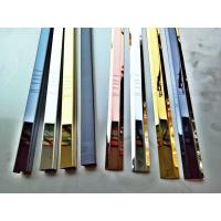 Buy cheap Mirror nickel silver colored stainless steel trim L shape trim strips from Wholesalers