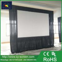 Buy cheap XYScreens foldable fast frame portable fast fold deluxe projection screen with black curtain / drapes for large activity from wholesalers