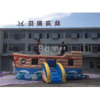 Buy cheap Commercial Kids Blow Up Inflatable Pirate Ship Combo With Lead Free Material from wholesalers