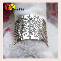 Buy cheap Wedding and party antique silver napkin ring laser cut filigree design from wholesalers