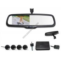 Buy cheap 4.3 inch Rear view mirror Visual parking sensor CRS9437 with Reversing Camera and Sensors from wholesalers