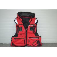 Buy cheap Red Nylon EPE Foam Watersport Life Jackets / life vest jacket for Rescue from wholesalers