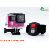 Buy cheap 12MP 1050mAh Sports Dual Screen Action Camera H3R 2.4G Controller Slim Wifi Mini from wholesalers