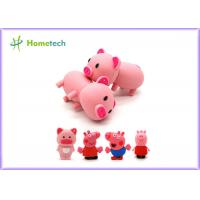 Buy cheap Happy Big Family Pink Pig Customized Usb Flash Drive , Personalized Usb Key Cute Model product