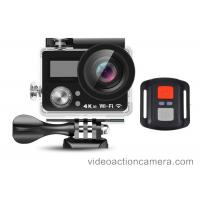 China Remote Control 4K Wifi Action Camera High Definition With Dual Screen on sale