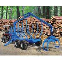 Buy cheap forestry machine timber ATV log trailer for tractor with crane with grapple from wholesalers