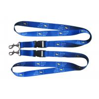 Buy cheap Polyester, Nylon, Silicone, Satin Sublimation Lanyard With D Hook And Safety Break Away Clip from wholesalers