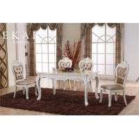 Buy cheap Classic Furniture White Dining Room Table Wood from wholesalers