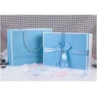 Buy cheap 300gsm Ribbon UV Coating CMYK Recycled Paper Gift Boxes from wholesalers