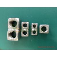 China Hot forging square nut 1 1/2'' big size with tapped thread on sale