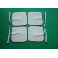 Buy cheap Tens Electrodes For Tens Machine, Health Pad, Square Deglutition Electrode Pad With Wire / Tens Electrodes Pads from wholesalers
