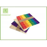 Buy cheap Wooden Stained Colored Flat Craft Sticks With Various Size And Color from wholesalers