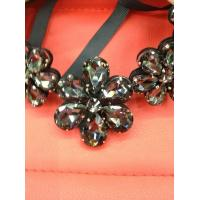 Buy cheap Sensational Crystal Flower Necklace / Black Statement Necklace Crystal Beading from wholesalers