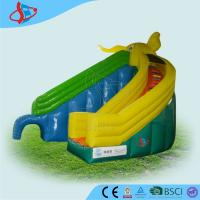 Buy cheap Green Curved  Funny Inflatable Dry Slides For Children Parks PVC from wholesalers