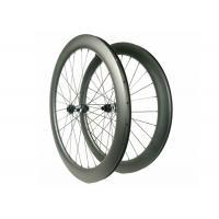 Carbon Disc Brake Road WheelsFor DT350S Hub , Anti Slip Carbon Fiber Cycling Wheels