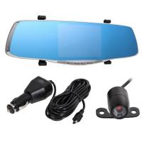 Buy cheap 4.3 inch car reaview mirror car dvr mirror with Dual lens car hd 1080p dvr camera from wholesalers
