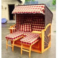 Buy cheap Waterproof Wooden Beach Chair & Strandkorb , Two Seat Beach Chair from wholesalers