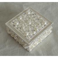 Buy cheap silver pearl square metal jewelry box(P05302Sc) from wholesalers
