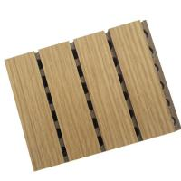 Buy cheap Noise Reduction Wooden Grooved Acoustic Panel ,  Wood Panels For Walls And Ceilings from wholesalers