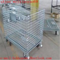Buy cheap galvanized wire mesh container/stackable storage bins/metal storage containers/ galvanized treatment storage cabinets from wholesalers
