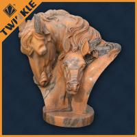 Buy cheap Custom Carved Marble Garden Ornaments For Table Decoration House Head Statue from wholesalers