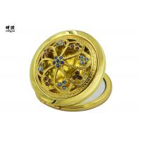 Buy cheap Gold Souvenir Vintage Makeup Compact Mirror Zinc Alloy Gold for Retail Market product