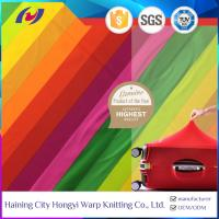 Buy cheap Good Quality 4 Way Stretch Warp Knitted Polyester Spandex Rainbow Elastic Suitcase Fabric from wholesalers