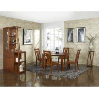 Buy cheap Nanmu solid wood Dining room furniture 1.35m flexible Round table and Chairs Tall wine cabinet with buffet product