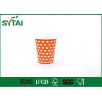 Buy cheap Orange Color Charming Hot Drink Paper Cups Disposable Gorgeous Design product