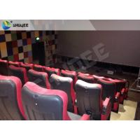Buy cheap Red 4D Movie Theater Simulator System Equipment With Motion Chair 3 / 4 / 5 Seats A Platform product