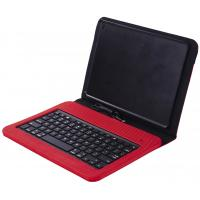 Buy cheap Durable Red Ipad Keyboard Leather Case With 8 Pin Plug Play product