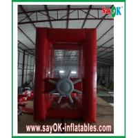 Buy cheap Amusement Park Red Gaint Inflatable Money Booth Cash Machine Catch Money from wholesalers