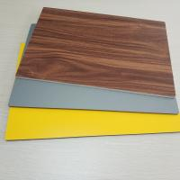 Buy cheap Circular Cladding Wood Grain Aluminum Composite Panel Embossed Surface Density 2.5% from wholesalers