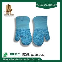 Buy cheap Heat Resistant Useful Home Kitchen Oven Mitts With Silicone Coated Bbq Cooking Gloves product